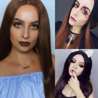 brown-synthetic-lace-front-wigs