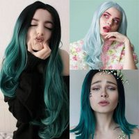 green-synthetic-lace-front-wigs